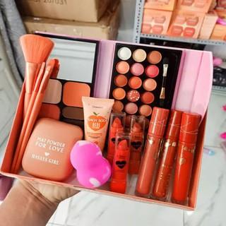 Bộ trang điểm cá nhân chuyên nghiệp đầy đủ gồm 11 món Makeup ,với 6 son siêu lì đủ màu, dành cho Nàng nào thích son thumbnail