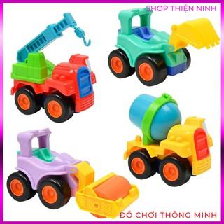 Bộ 4 Xe Ô Tô Công Trình Chạy Đà