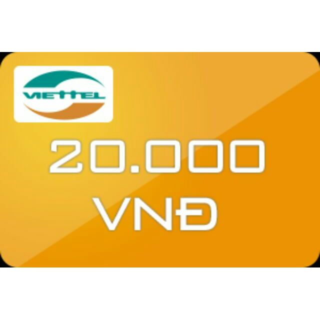 Thẻ cào Viettel 20k - 3173364 , 365134434 , 322_365134434 , 20000 , The-cao-Viettel-20k-322_365134434 , shopee.vn , Thẻ cào Viettel 20k