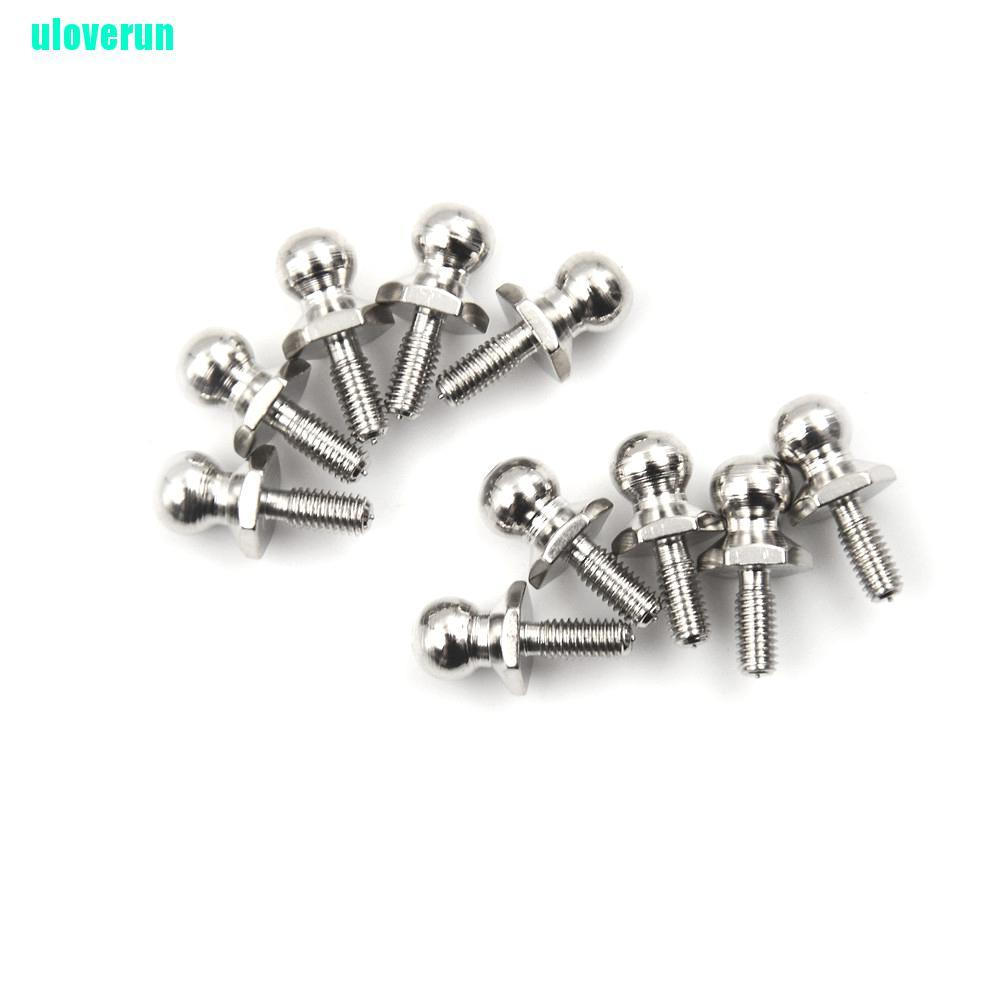 uloverun 10Pcs HSP Ball Head Screw For RC 1/10 Model Car Buggy Truck Spare Parts