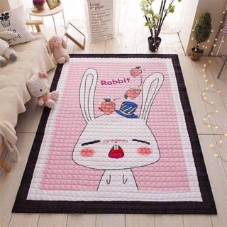 Thảm thỏ hồng siêu yêu cho bé gái