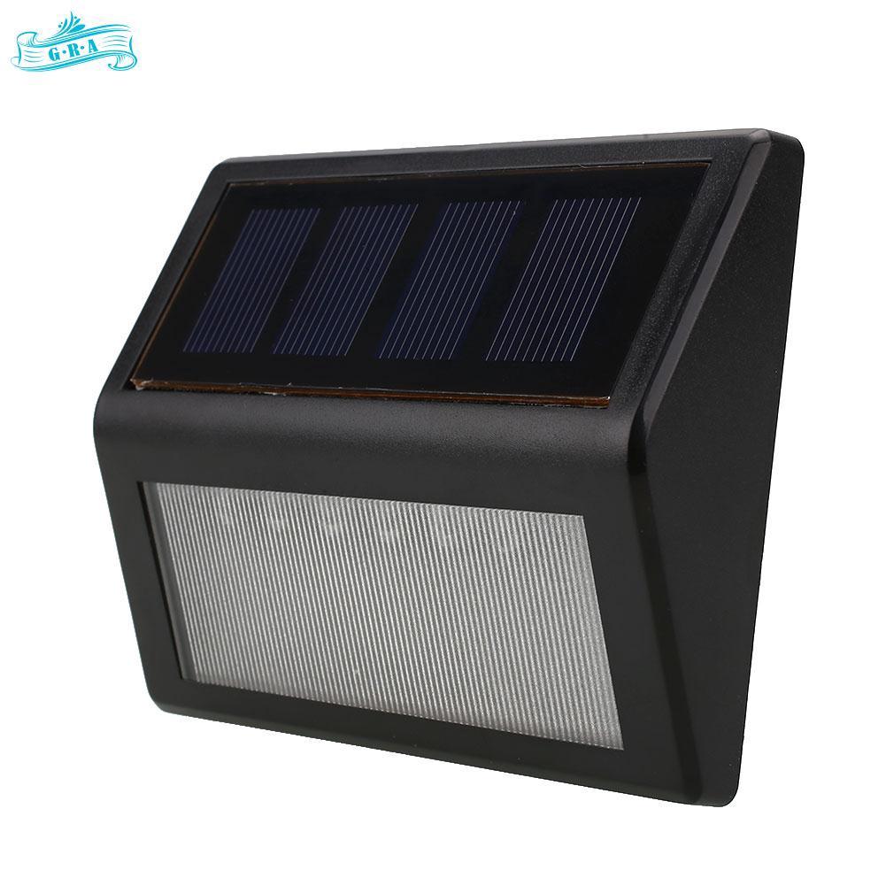 GRA Waterproof LED Bulb Solar Power Motion Sensor Wall Light Outdoor White