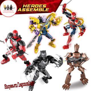 Mô hình Bio Siêu anh hùng Marvel KSZ Thanos Deadpool Groot SpiderMan Black Panther