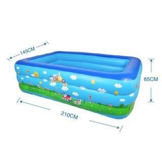 Bể phao bơi 2m1 LOẠI 1- DÀY DẶN đáy CHỐNG TRƯỢT tặng miếng vá phao