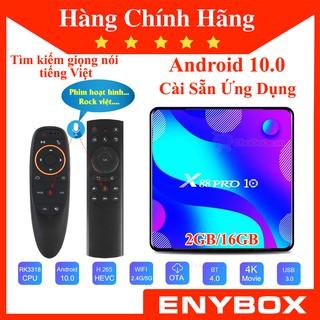 [Mã ELMS5 giảm 7% đơn 300K] X88 Pro 10 - Android TV Box mới 2020 chạy Android 10 cực nhanh, giá rẻ, chính hãng ENYBOX