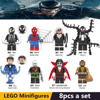 DIY Figure Super Heroes Venom Spiderman Figure Lego Building Blocks Kids Toys Birthday Gift