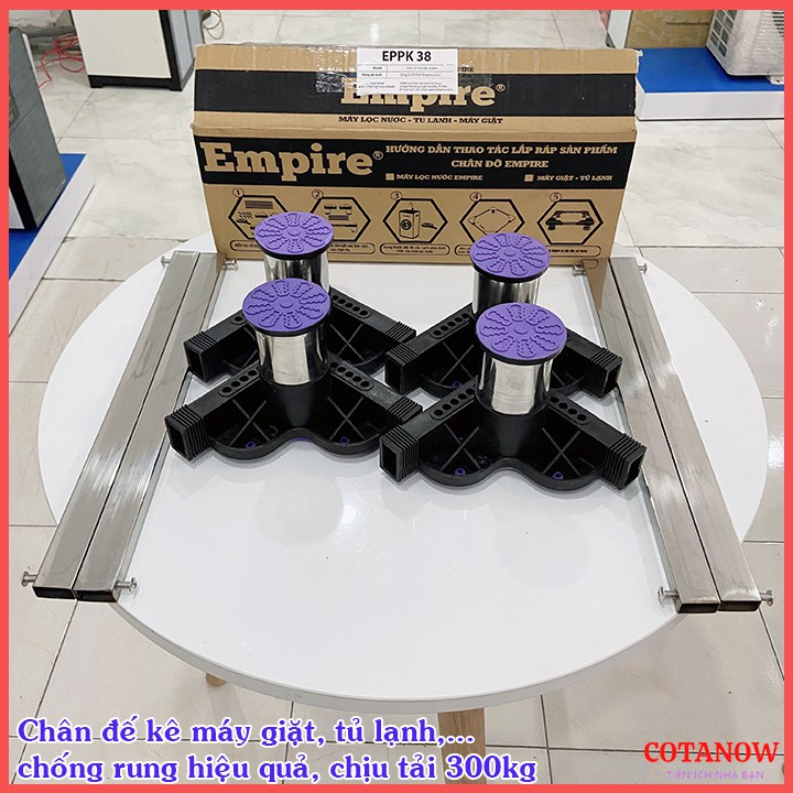 Chân Đế Máy Giặt - Chân Kê Máy Giặt - Tủ Lạnh Chống Rung Lắc Empire Cao Cấp Inox 304 COTANOW
