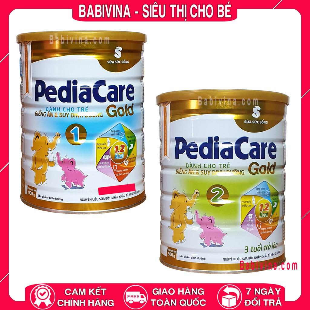 [ĐỦ SỐ] Sữa Pediacare Gold 1 - 2 400g 900g Viện Dinh Dưỡng Dành Cho Trẻ Biếng Ăn - Suy Dinh Dưỡng - Thấp Còi