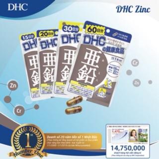 (HÀNG CHÍNH HÃNG) VIÊN UỐNG BỔ SUNG KẼM DHC ZINC 60V GÓI thumbnail