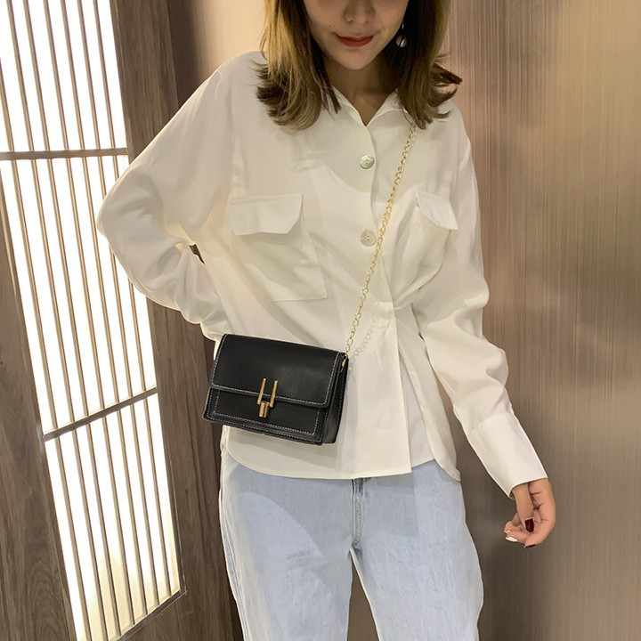 Túi đeo chéo vai nữ khóa chốt cài TX223 kiểu dáng mới