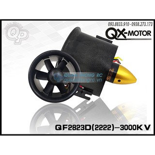 QX-MOTOR Ducted Fan 70mm 6 Blades QF2822 3000KV EDF 70mm Brushless Motor (2222) (4S)