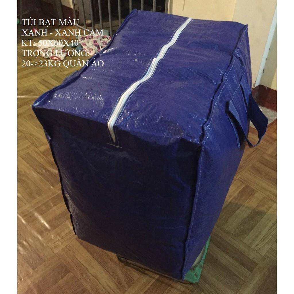 Túi bạt đựng đồ xanh 2 mặt - chính hãng bạt Tú Phương 50x60x40cm