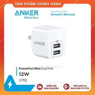 Sạc ANKER PowerPort Mini 2 cổng 12W - A2620