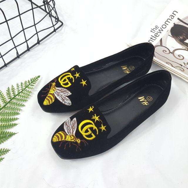 Giày bệt nữ mũi vuông ong