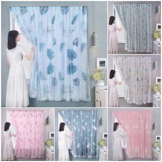 Yêu Thích+[CÓ SẴN]Rèm cửa dán tường 2 lớp họa tiết xinh xắn
