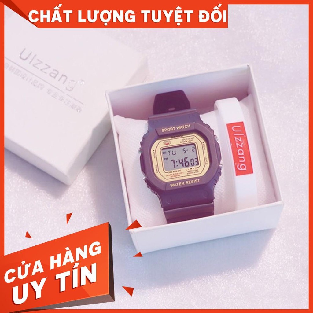 [SIÊU HOT ] Đồng hồ điện tử SANOSI mặt vuông phong cách Unisex