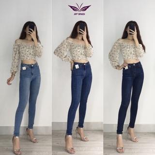 Quần Skinny Jeans Nữ Trơn Cạp Siêu Cao Siêu Co Giãn/VNXK/Kiểu trơn