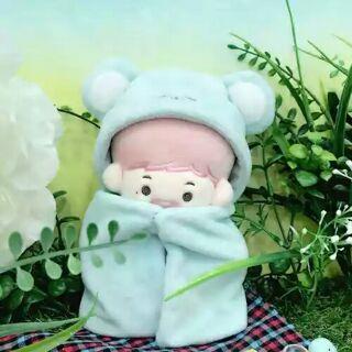 [Có sẵn]Áo choàng xanh outfit cho doll 20cm hàng fansite