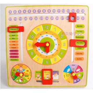 Bảng gỗ giúp bé học về thời gian, thời tiết và các mùa trong năm bằng tiếng Anh