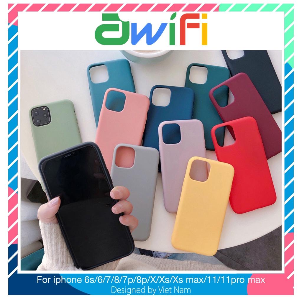 Ốp iphone - Ốp lưng vỏ màu mềm mại 1 5/5s/6/6s/6plus/6s plus/7/8/7plus/8plus/x/xs/xs max/11/11pro max - Awifi Case C1-1