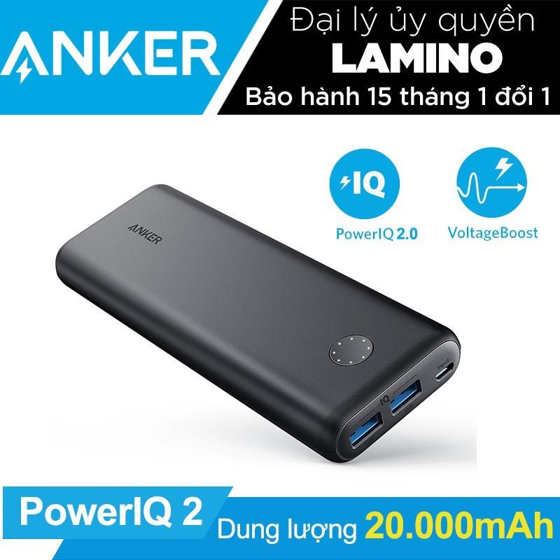 Pin sạc dự phòng ANKER PowerCore II 20000mAh PowerIQ 2.0 (18w output) - Hãng phân phối chính thức
