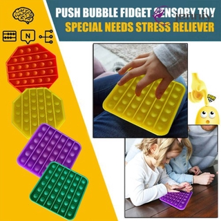 [JNY] 1x Push Pop Pop Bubble Sensory Fidget Toy Stress Relief Special Needs Silent Classroom