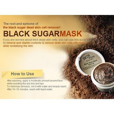 mặt nạ đường đen black sugar skin food