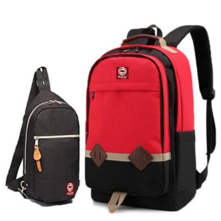 HÀNG XỊN - GIÁ TỐT - Bộ balo du lịch  HR233 và túi đeo chéo phong cách  HR203