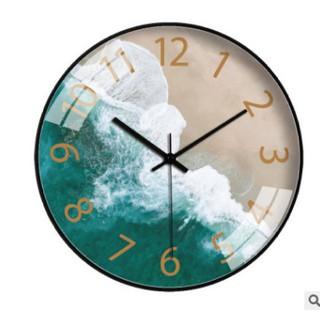 Đồng hồ treo tường kim trôi ,họa tiết biển cả sang trọng đẳng cấp