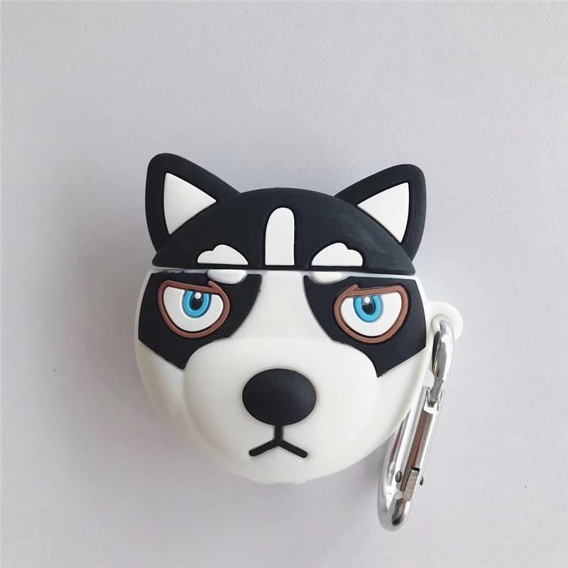 Ốp lưng silicon hình chó con xinh xắn dành cho điện thoại Airpods