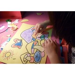 Combo 10 tranh cát tô màu cho bé (20 x 28 cm