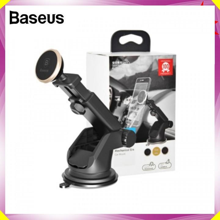 Bộ Gía đỡ điện thoại trên xe hơi, ô tô đặt taplo cao cấp thương hiệu Baseus SULX - 2 màu: Vàng và Bạc - Hàng Nhập Khẩu