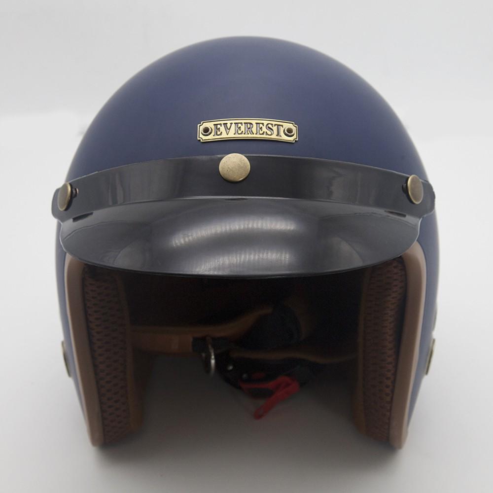 Nón bảo hiểm 3/4 màu Xanh navy cao cấp phong cách phượt EVEREST
