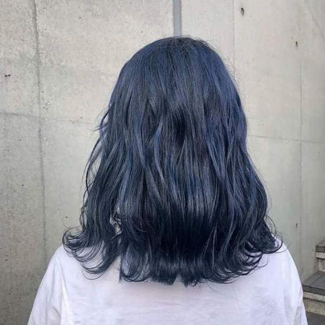 Thuốc nhuộm tóc màu Xanh Dương Đen Khói + tặng kèm oxi