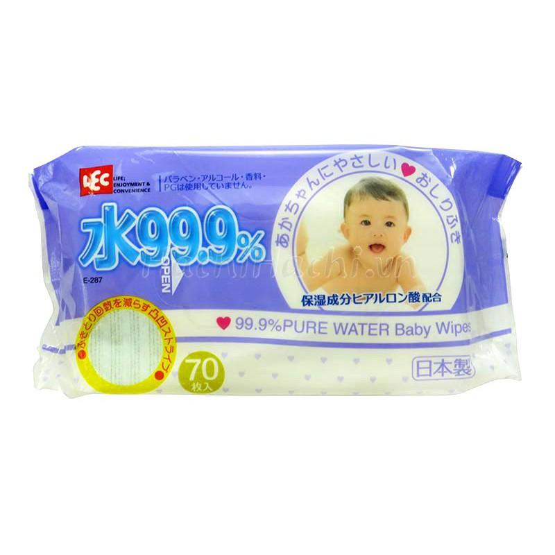Giấy ướt LEC nước tinh khiết 99.9% E287 70 tờ