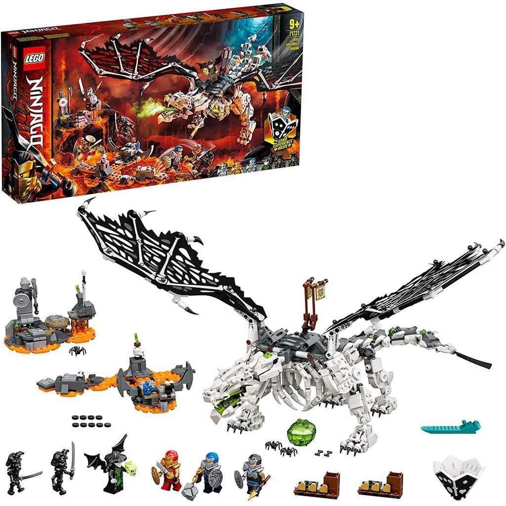 Đồ chơi lắp ráp xếp hình LEGO Ninjago 71721 (1016 PCS) / NonLEGO Relics 7183 (984 PCS) Skull Sorcerer's Dragon