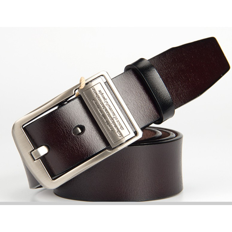 Dây nịch nam khóa kim loại, mặt khóa 2 chiều, dây thắt lưng, thắt lưng nam