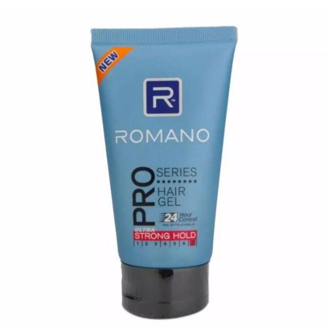 Gel tạo kiểu tóc siêu cứng Romano Pro Series Hair Gel 150g