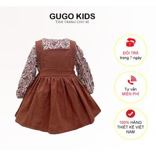 váy trẻ em, váy bé gái điệu đà phối giữa áo và váy tiểu thư