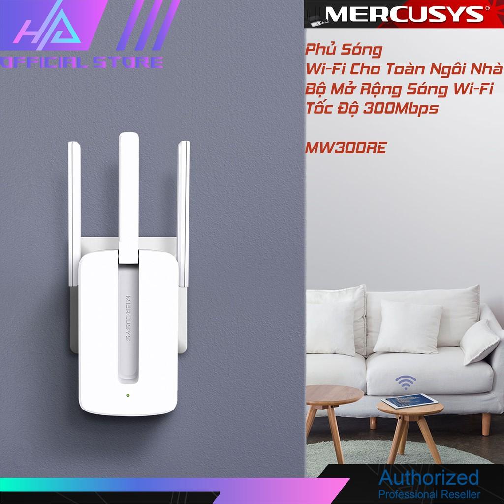 Bộ kích sóng wifi Mercusys MW300re 3 râu cực mạnh,Kich wifi,cục hút wifi,kích sóng wifi,VDS shop
