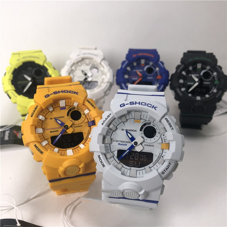CASIO G-SHOCK GBA-800DG-1A 2A 7A 8A 9A UC บลูทู ธ ขั้นตอนนาฬิกาผู้ชาย