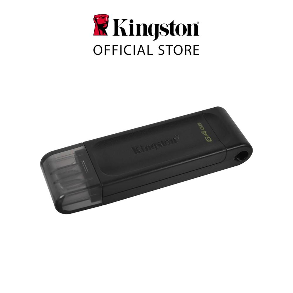 USB-C 3.2 Kingston DataTraveler DT70 64Gb type C tương thích sử dụng cho máy tính xách tay, máy tính bảng và điện th