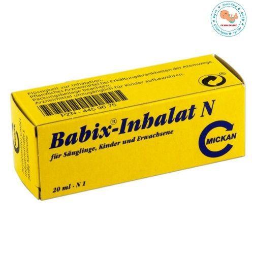 Tinh dầu chống cảm ho cảm cúm mũi họng Babix - inhalat N 10ml, Đức cho bé từ 4 tuần tuổi nhỏ giọt lên áo hoặc yếm cho bé