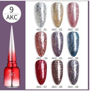 SET Sơn gel AS mẫu chai đỏ nhọn mã AKC 9 chai 15ml siêu HOT siêu xịn