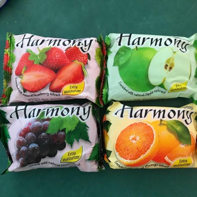 Xà bông cục Harmony 75g dâu, cam, chanh, táo , nho