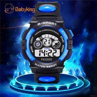Đồng hồ kỹ thuật số nhiều màu sắc có thể phát sáng dành cho các bé thumbnail