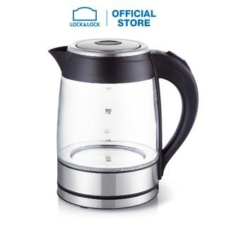 Ấm đun thủy tinh siêu tốc Lock&Lock glass electric kettle 1.8L EJK418BLK thumbnail