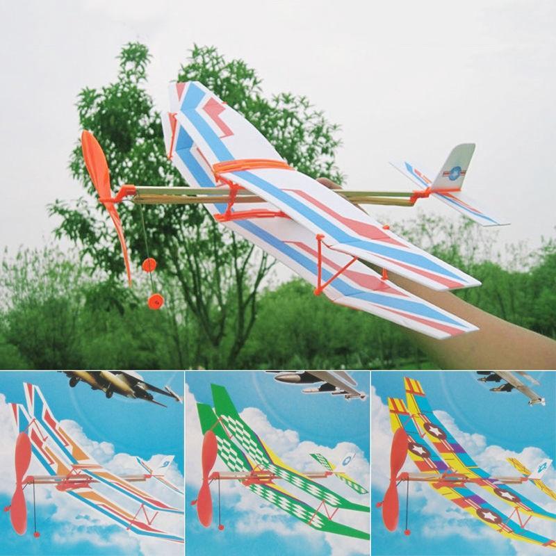 Glider Ctt Band Rubber Diy Powered Flying Foam Kit Plane