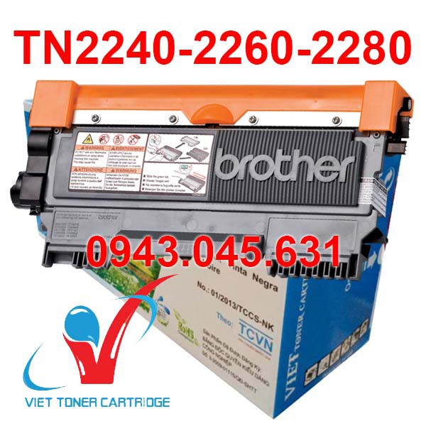 Hộp mực in Brother TN-2240/2260/2280 - HL 2130, 2220, 2230, HL2240D, 2250, 2250DN, 2270DW, 2280, 7360, 7470, 7470D, 7475
