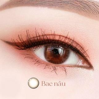 [TẶNG KÈM QUÀ] Lens nâu tự nhiên Angel Eyes - PINKY BAE - Lens mắt nâu đường kính 13.8 - Độ cận 0-6 thumbnail
